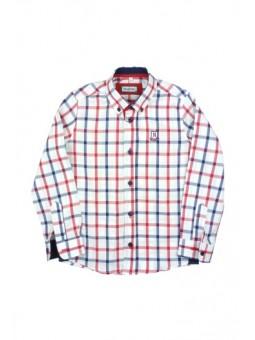 Nachete camisa de cuadros grandes en azul y rojo