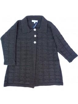 Abrigo de punto en gris oscuro