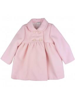 Rochy abrigo de paño en rosa bebé