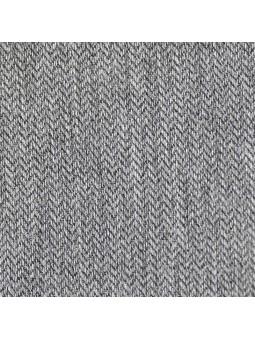 Foque. Vestido gris detalle tela