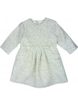Tutto Piccolo vestido jacquard gris claro