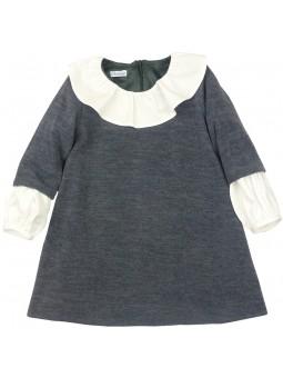 Ancar vestido gris con mangas camiseras