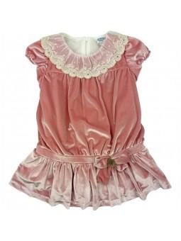 Rochy vestido de terciopelo rosa