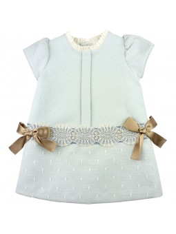 Rochy vestido celeste con lazos