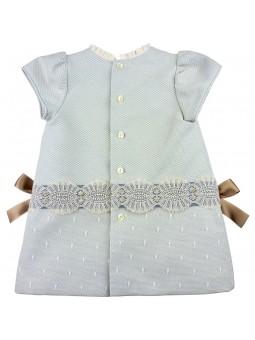 Rochy vestido celeste con lazos vista trasera