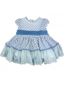 Larrana vestido celeste