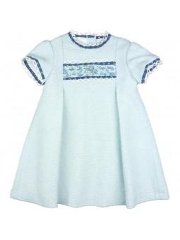 Foque vestido de tweed azul celeste