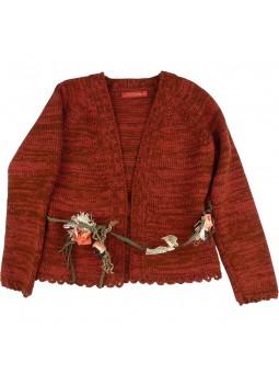 Larrana chaqueta marrón con cinturón