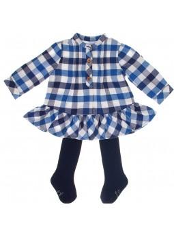 Tutto Piccolo vestido de cuadros azul