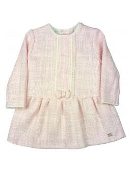 Tutto Piccolo vestido de tweed rosa