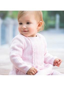 Tutto Piccolo vestido de tweed rosa lookbook