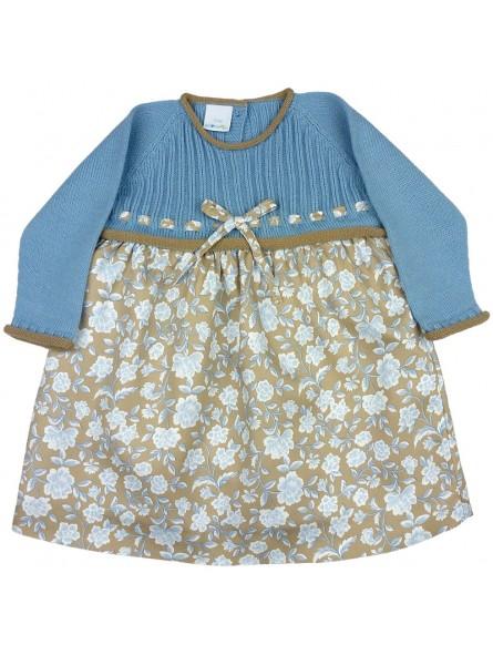 Paloma de la O vestido estampado con cuerpo de punto