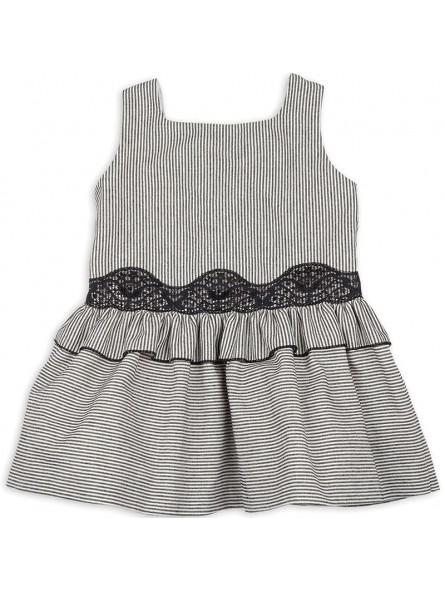 Rochy vestido a rayas negro y blanco