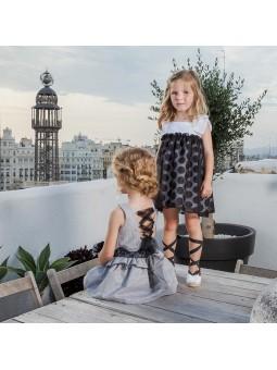 Rochy vestido a rayas negro y blanco lookbook