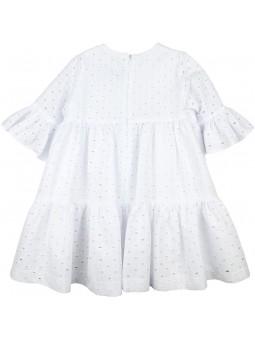 Rochy vestido blanco bordado vista trasera