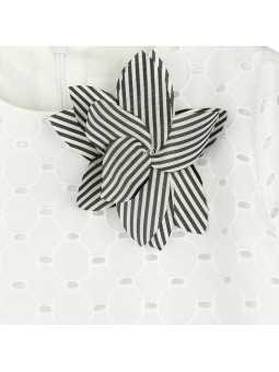 Rochy vestido blanco bordado detalle