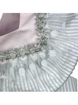 Foque vestido sersucker detalle cuello