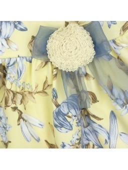 Rochy vestido estampado lirios detalle lazo