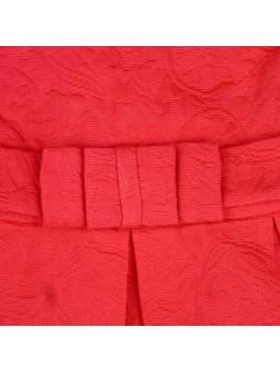 Tutto Piccolo vestido coral de jacquard detalle