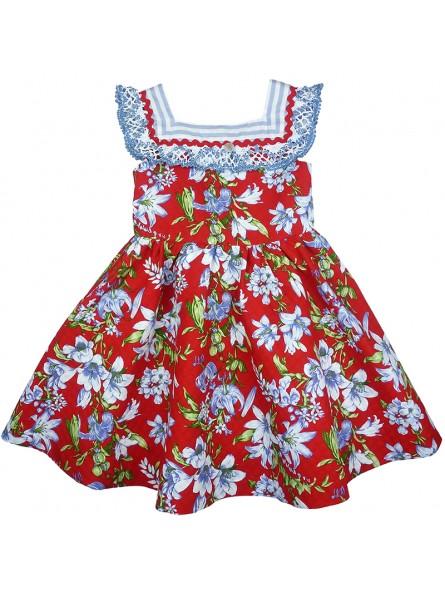 Foque vestido pique rojo