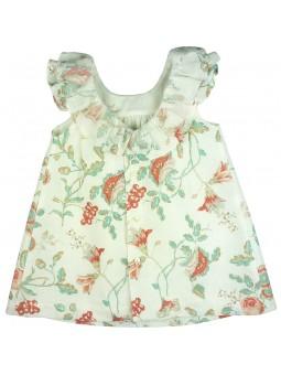 Rochy vestido de lino estampado vista trasera