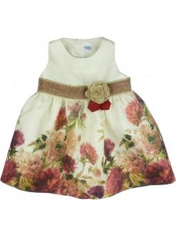 Rochy vestido de lino estampado flores