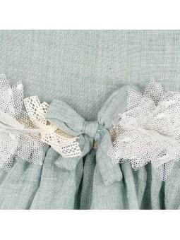 Detalle adorno en la cintura vestido Verdrmar. Rochy