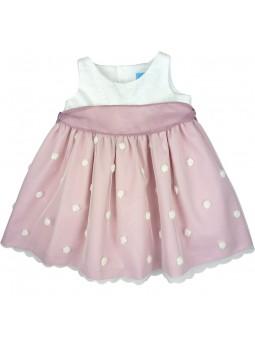 Tartaleta vestido con falda de tul rosa