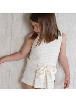 Eve Children vestido beige con lazada lookbook
