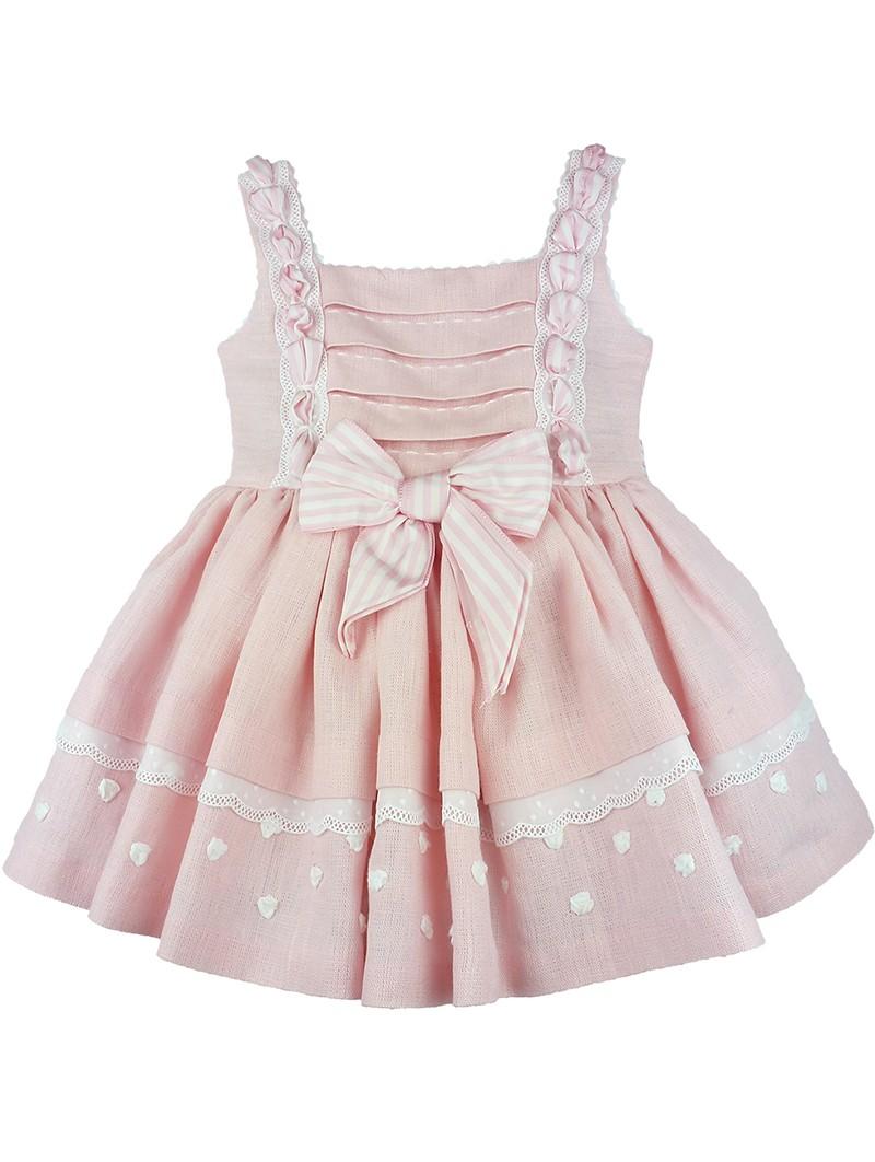Sapytos vestido de lino rosa