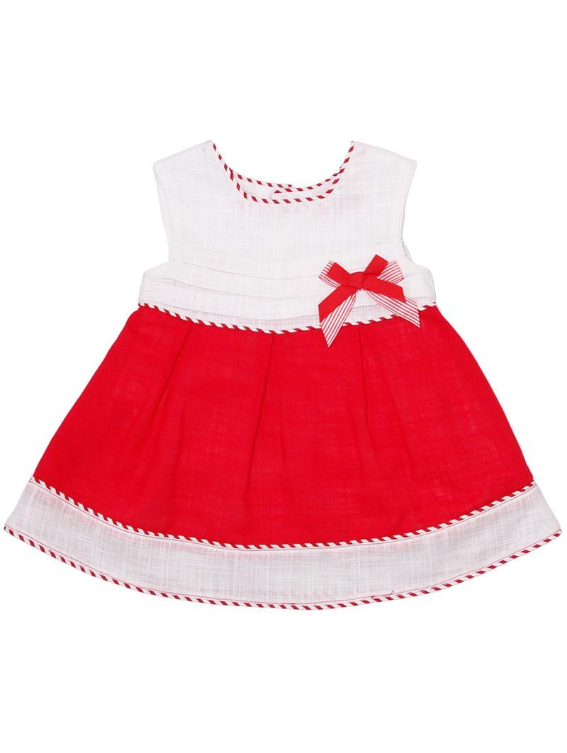 Tutto Piccolo vestido bicolor
