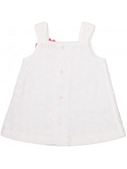 Vestido blanco Tutto Piccolo vista trasera