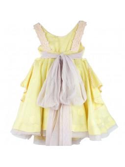 Larrana vestido amarillo vista trasera