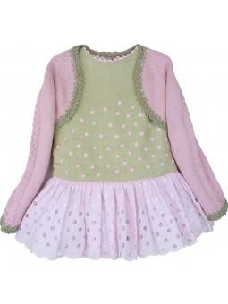 Laquinta. Conjunto vestido bicolor con chaqueta a juego