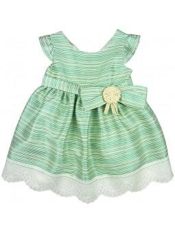 Rochy vestido verde de rayas