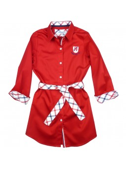 Nachete vestido camisero con mangas de cuadros