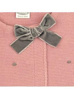 Rochy chaqueta motitas rosa detalle lazo