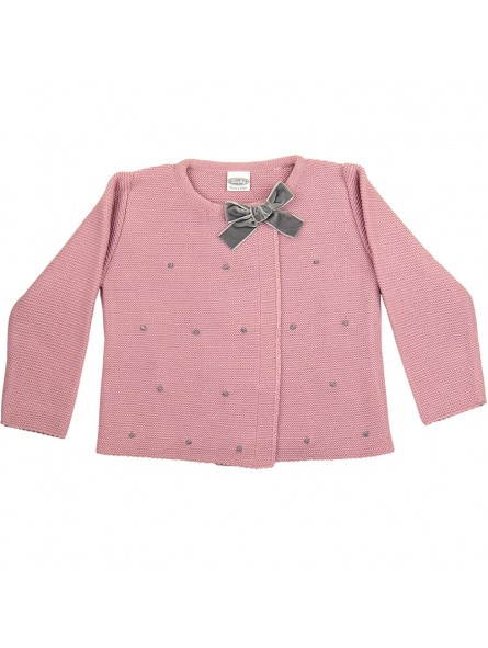 Rochy chaqueta motitas rosa