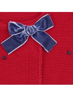 Rochy chaqueta motitas burdeos detalle lazo