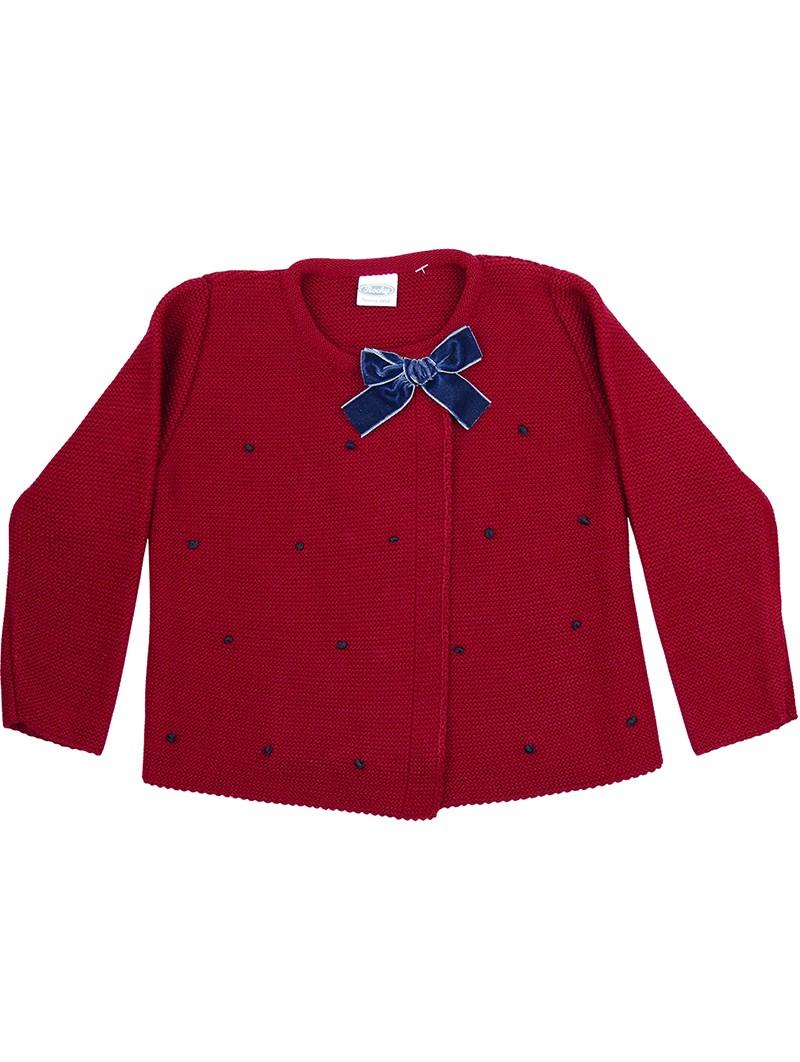 Rochy chaqueta motitas burdeos