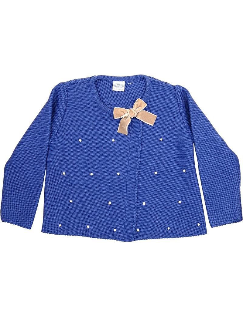 Rochy chaqueta motitas azul