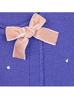 Rochy chaqueta motitas azul detalle lazo
