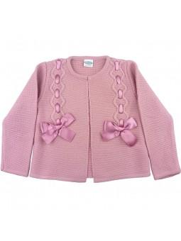 Rochy chaqueta de punto rosa