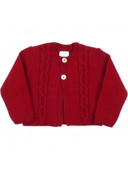 Foque chaqueta rojo oscuro
