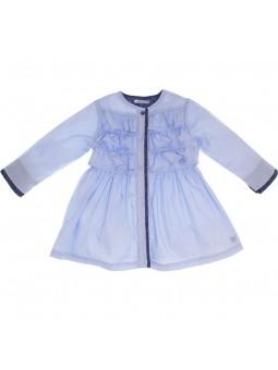 Tutto Piccolo vestido camisero azul celeste