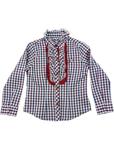 Nachete camisa de cuadros con volantes