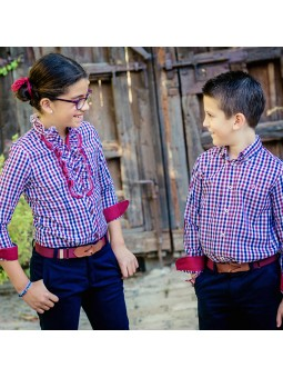 Nachete camisa con chorreras lookbook