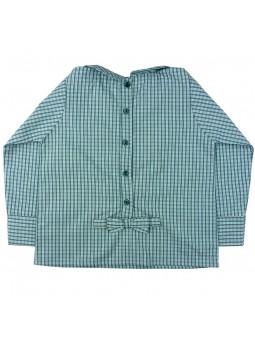 Camisa de cuadros con lazos vista trasera