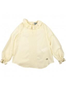 José Varón camisa beige de plumeti