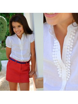 Nachete camisa blanca lookbook